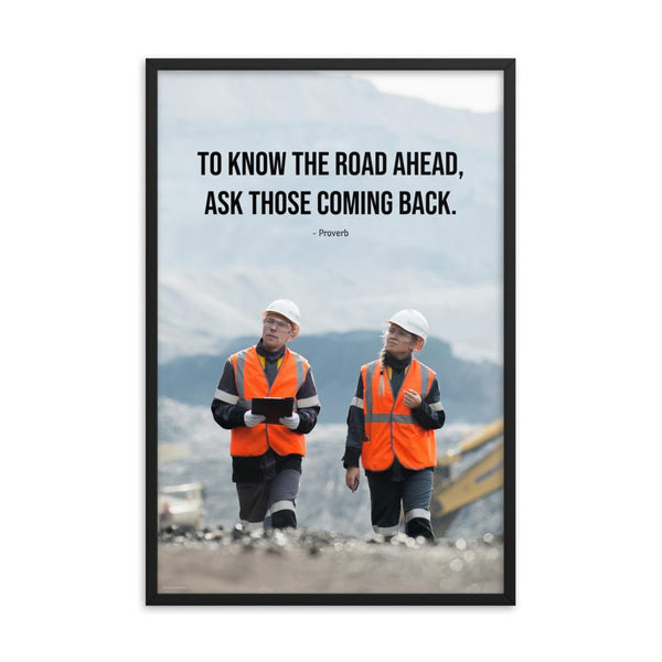 Road Ahead - Framed Framed Inspire Safety