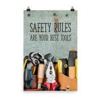 Safety Rules - Premium Safety Poster Poster Inspire Safety