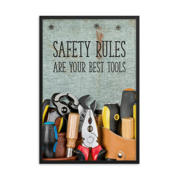 Safety Rules - Framed Framed Inspire Safety
