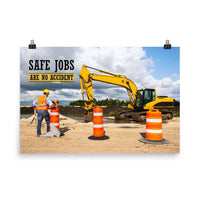 Safe Jobs - Premium Safety Poster Poster Inspire Safety