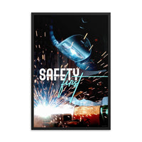 Safety First - Framed Framed Inspire Safety