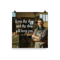 Keep Thy Shop - Premium Safety Poster Poster Inspire Safety