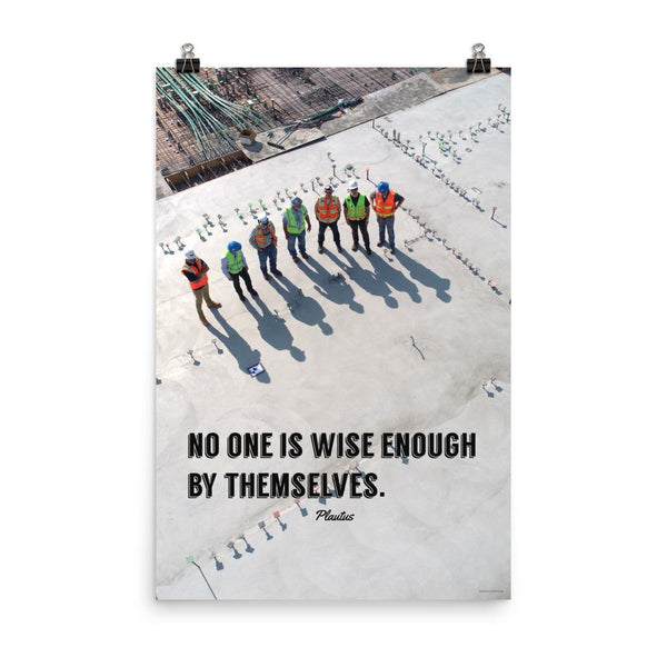 Wise Enough - Premium Safety Poster Poster Inspire Safety 24×36