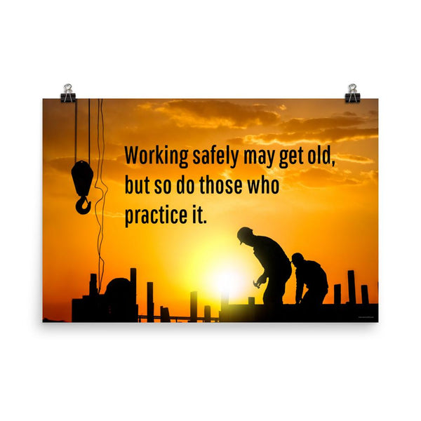 Working Safely - Premium Safety Poster Poster Inspire Safety