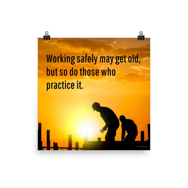 Working Safely - Poster
