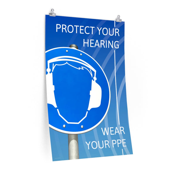 Protect Your Hearing - Economy Safety Poster
