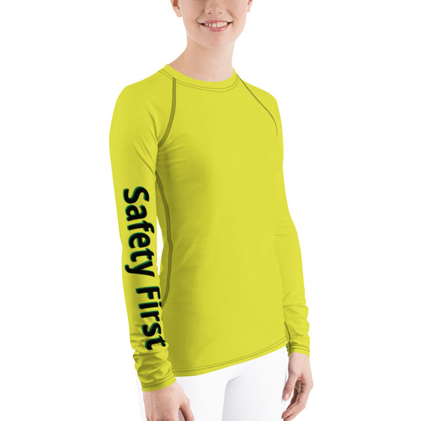 Safety First - Women's Rashguard Longsleeve Shirt