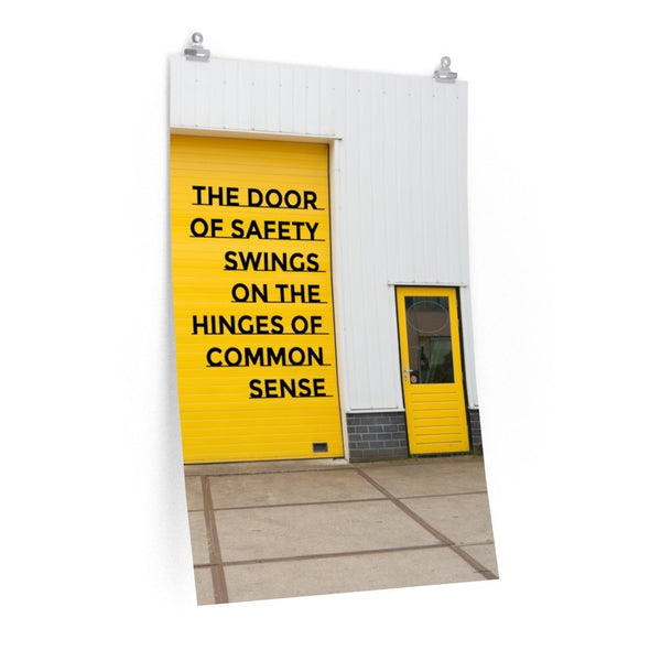 Door of Safety - Economy Safety Poster Poster Inspire Safety 24″ × 36″