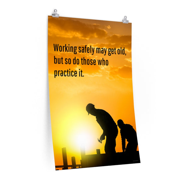 Working Safely - Economy Safety Poster