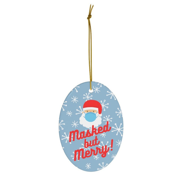 Masked but Merry - Christmas Ornament