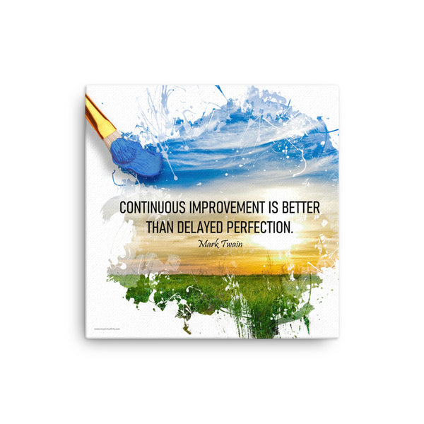 Continuous Improvement - Safety Posters on Canvas