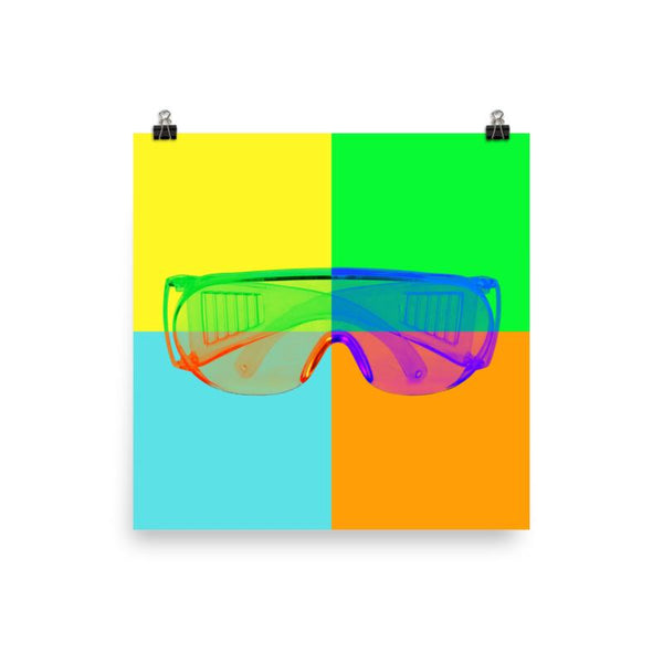 Colorful Safety Art - Safety Glasses - Premium Safety Poster