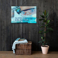 Pay Attention - Canvas Canvas Inspire Safety 24×36