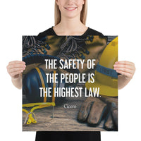 The Highest Law - Premium Safety Poster Poster Inspire Safety