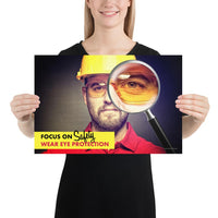 Focus on Safety - Premium Safety Poster Poster Inspire Safety 12×18