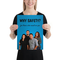 Why Safety - Premium Safety Poster Poster Inspire Safety 12×16