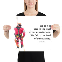 Rise To Expectations - Premium Safety Poster Poster Inspire Safety 16×20