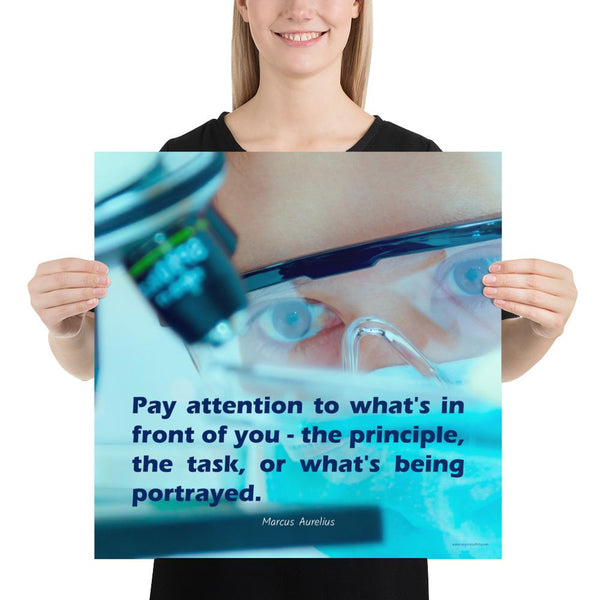 Pay Attention - Premium Safety Poster Poster Inspire Safety 18×18