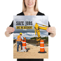 Safe Jobs - Premium Safety Poster Poster Inspire Safety 16×20