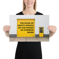 Door of Safety - Premium Safety Poster Poster Inspire Safety 12×18