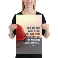 We Are Accountable - Premium Safety Poster Poster Inspire Safety 12×18
