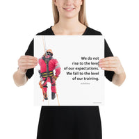 Rise To Expectations - Premium Safety Poster Poster Inspire Safety 14×14