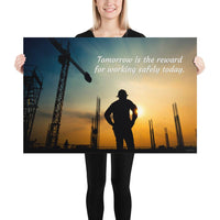 Tomorrow's Reward - Premium Safety Poster Poster Inspire Safety 24×36