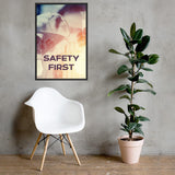 Safety First - Framed Framed Inspire Safety 24×36