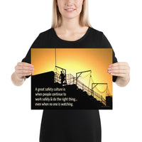 Great Safety Culture - Premium Safety Poster Poster Inspire Safety 12×16