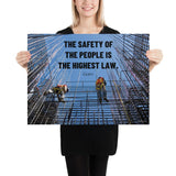 The Highest Law - Premium Safety Poster Poster Inspire Safety 18×24