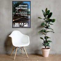 Prevent Heat Stress - Framed Framed Inspire Safety 24×36