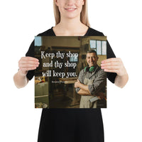 Keep Thy Shop - Premium Safety Poster Poster Inspire Safety 14×14