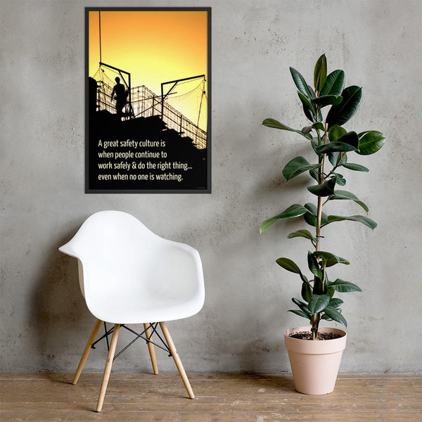 Great Safety Culture - Framed Framed Inspire Safety 24×36