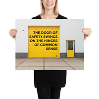 Door of Safety - Premium Safety Poster Poster Inspire Safety 18×24