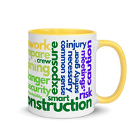 Safety Terms - Ceramic Mug with Color Inside