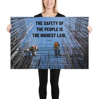 The Highest Law - Premium Safety Poster Poster Inspire Safety 24×36