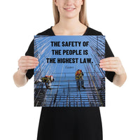 The Highest Law - Premium Safety Poster Poster Inspire Safety 14×14