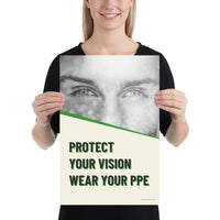 Protect Your Vision - Premium Safety Poster Poster Inspire Safety 12×18