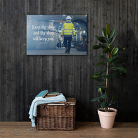 Keep Thy Shop - Canvas Canvas Inspire Safety 24×36