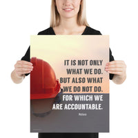 We Are Accountable - Premium Safety Poster Poster Inspire Safety 16×20