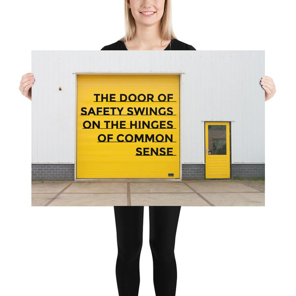 Door of Safety - Premium Safety Poster Poster Inspire Safety 24×36