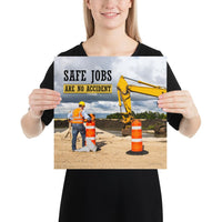 Safe Jobs - Premium Safety Poster Poster Inspire Safety 14×14
