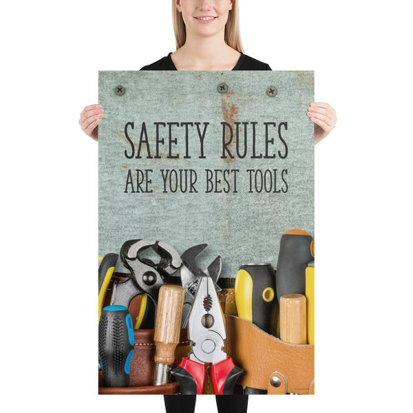 Safety Rules - Premium Safety Poster Poster Inspire Safety 24×36