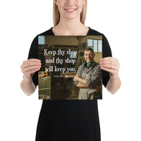 Keep Thy Shop - Premium Safety Poster Poster Inspire Safety 12×12