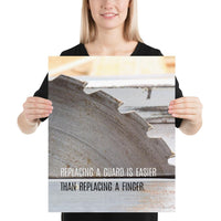 Replacing A Guard - Premium Safety Poster Poster Inspire Safety 16×20