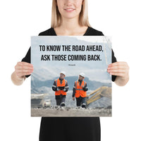 Road Ahead - Premium Safety Poster Poster Inspire Safety 16×16
