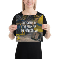 The Highest Law - Premium Safety Poster Poster Inspire Safety 12×12