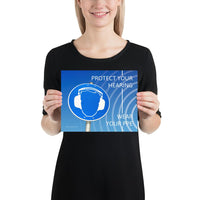 Protect Your Hearing - Premium Safety Poster Poster Inspire Safety 8×10