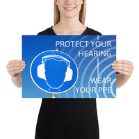 Protect Your Hearing - Premium Safety Poster Poster Inspire Safety 12×18