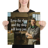 Keep Thy Shop - Premium Safety Poster Poster Inspire Safety 18×18